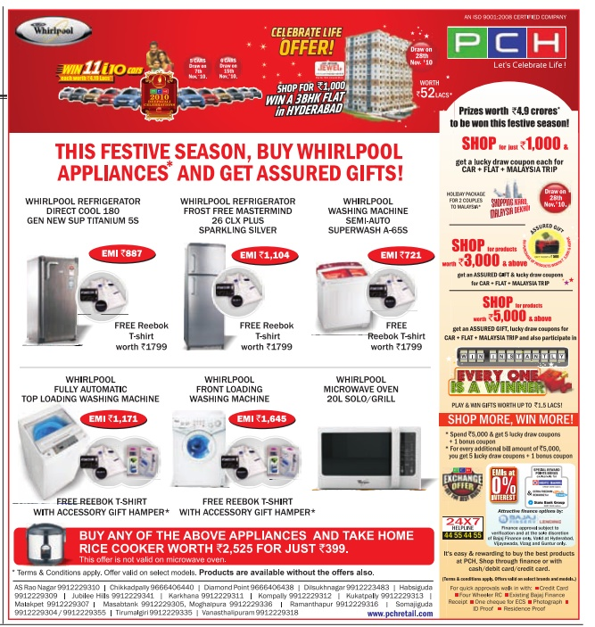 PCH Offers Shop Electronics for Rs 3,000 & Get an assured gift
