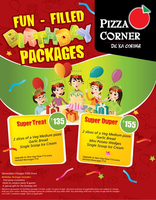 Pizza Corner presents FUN-FILLED BIRTHDAY PACKAGES at Very ...