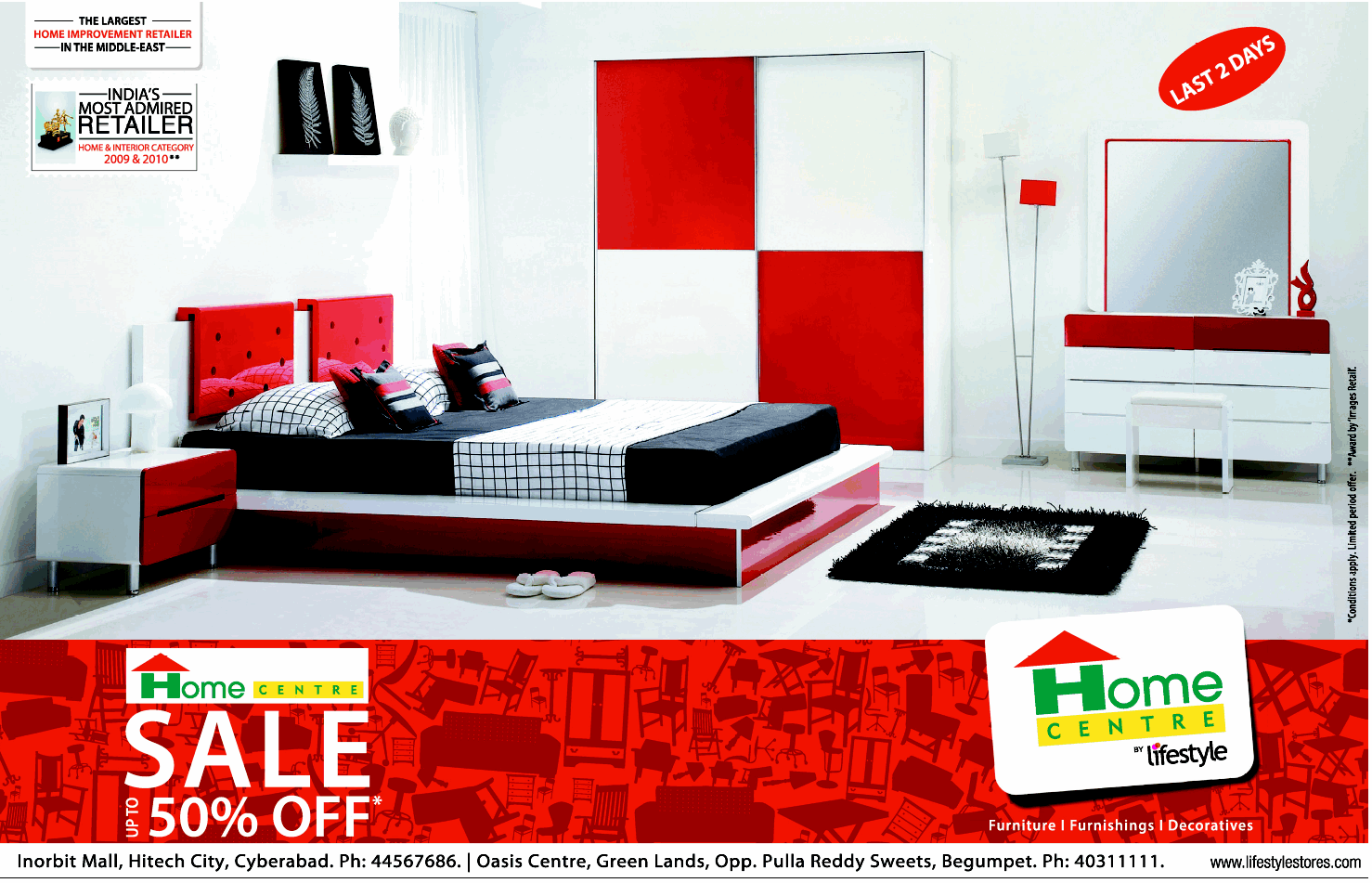 Sale Upto 50 Off On Furnitures At Home Centre Hyderabad Dealshut