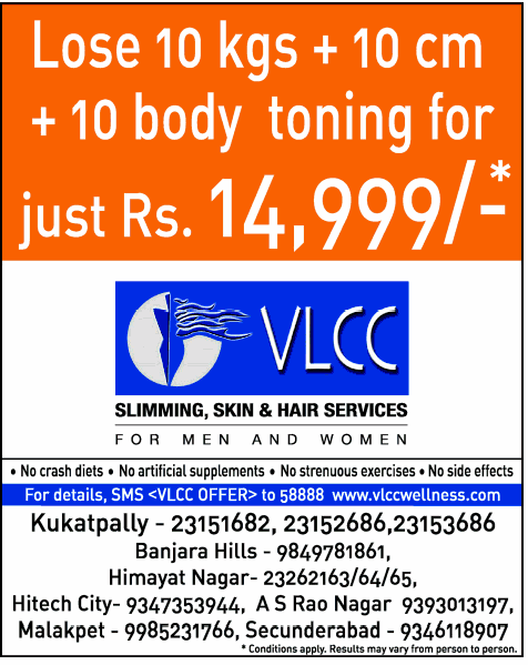 Vlcc Special Offers On Weight Loss Programme Banjara Hills Hyderabad