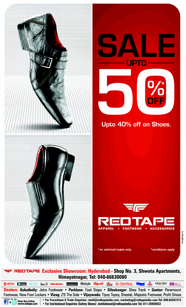 Red Tape Shoes In Chennai