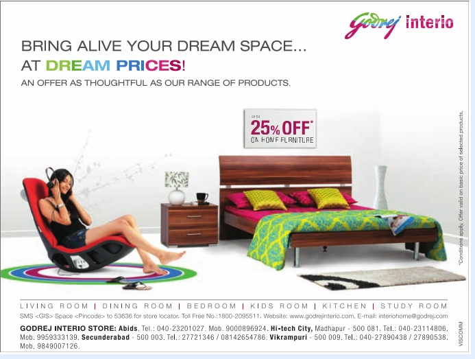 Up to flat 25 off on home furniture at godrej interio at hyderabad dealshut Godrej home furniture price list bangalore