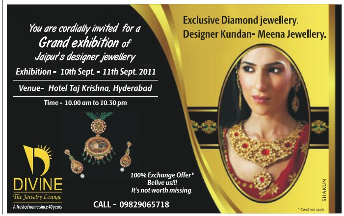 Grand exhibition of jaipurs designer jewellery and exchange offer grand exhibition of jaipurs designer jewellery and exchange offer at hotel taj krishna hyderabad stopboris Gallery