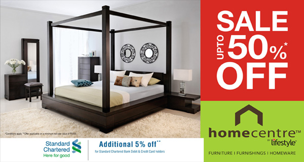 Home Centre Presents Upto Sale 50 Off On All Furniture At Hyderabad Dealshut