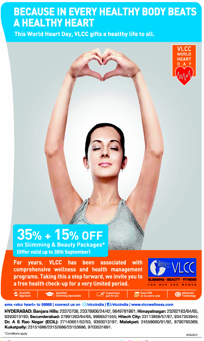 VLCC presenting 35% + 15% OFF on slimming & Beauty ...