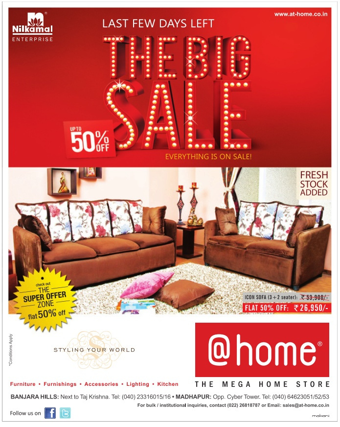 The Big Sale Upto 50 Off On Furniture At Home Hyderabad Dealshut
