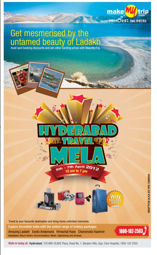 make my trip presenting hyderabad travel mela from 5th to