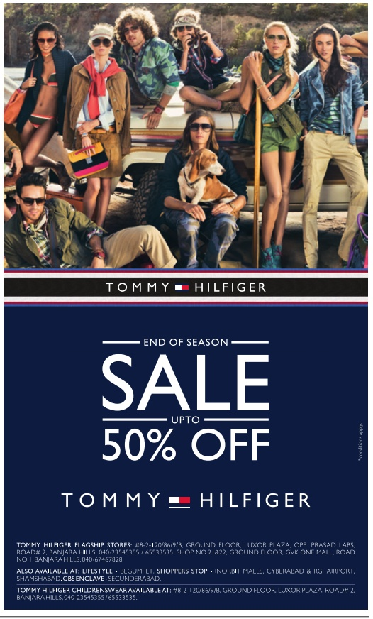 686e08d8 END OF THE SEASON SALE upto 50% off on Tommy Hilfiger,Hyderabad ...