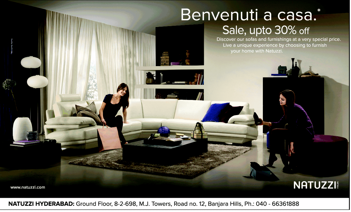 Sale Upto 30 Off On Home Furniture From Natuzzi Hyderabad Dealshut