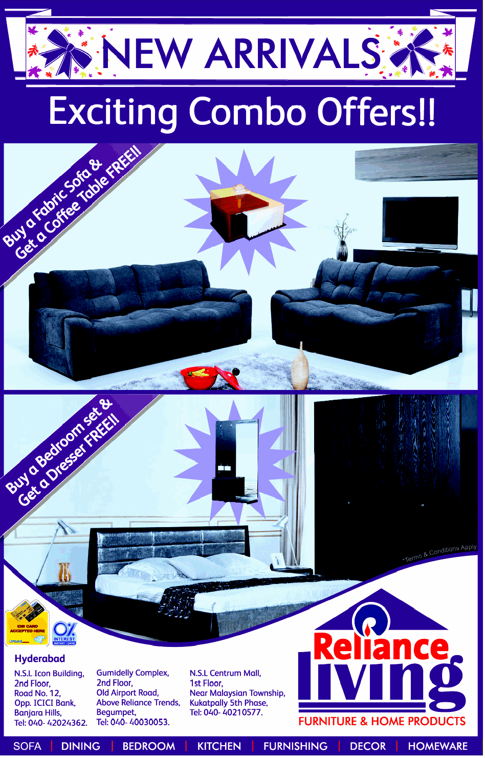 Reliance Living presents EXCITING COMBO OFFERS on New  : reliance living presents exciting combo 9ea583 from www.dealshut.com size 948 x 1481 png 213kB