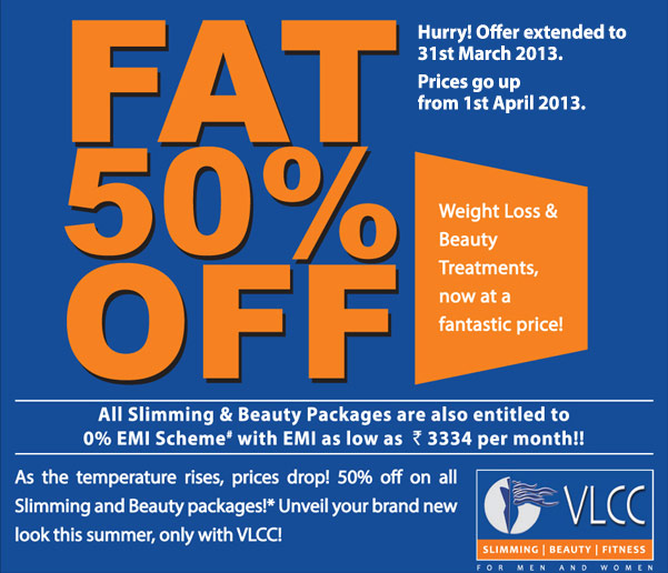 FAT 50% off on slimming treatments at VLCC, Hyderabad ...