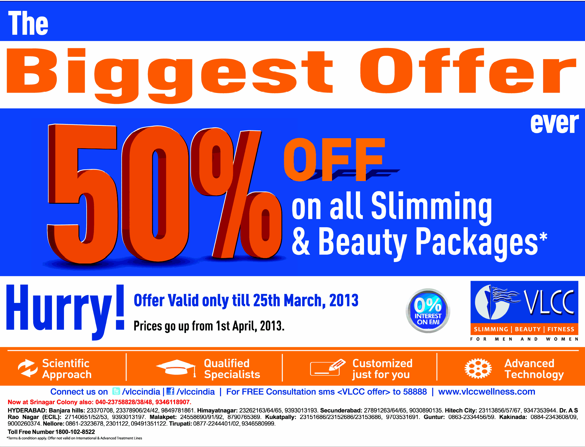 VLCC presents The Biggest Offer ever 50% off on all ...