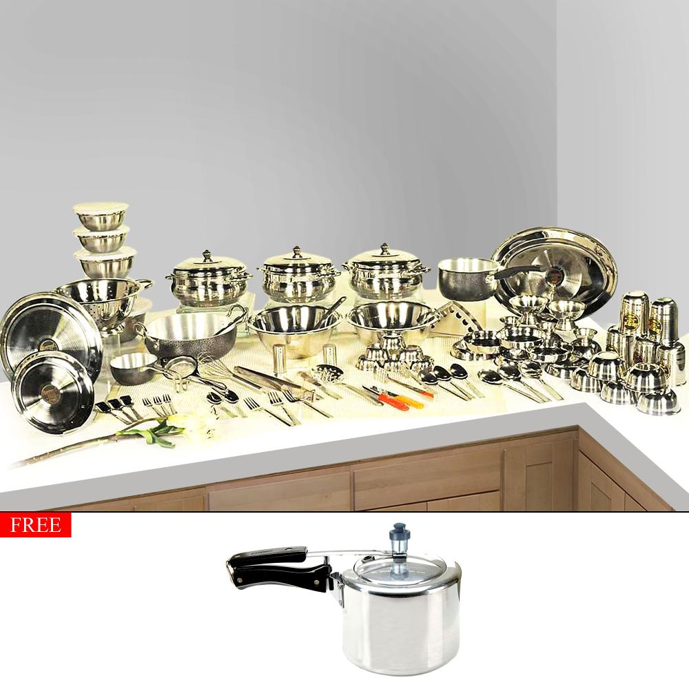 Deals today everwel 131 pc complete kitchen set with for Kitchen set deals