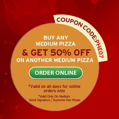 Pizza hut deals medium pizza