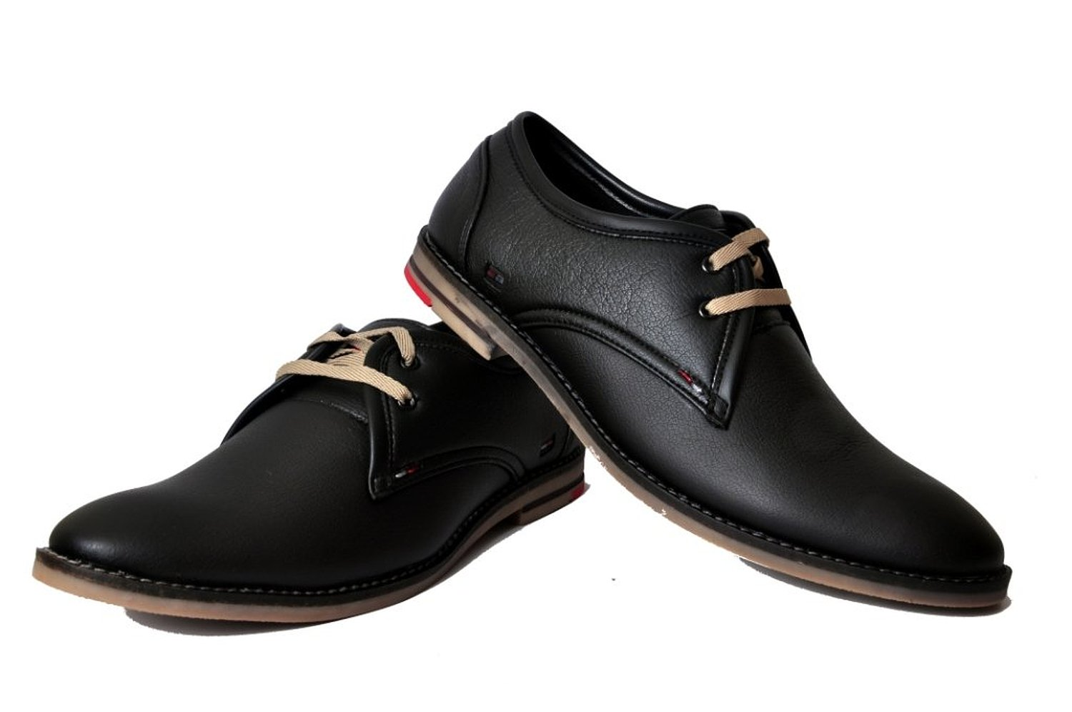 west code s black synthetic leather semi formal shoes
