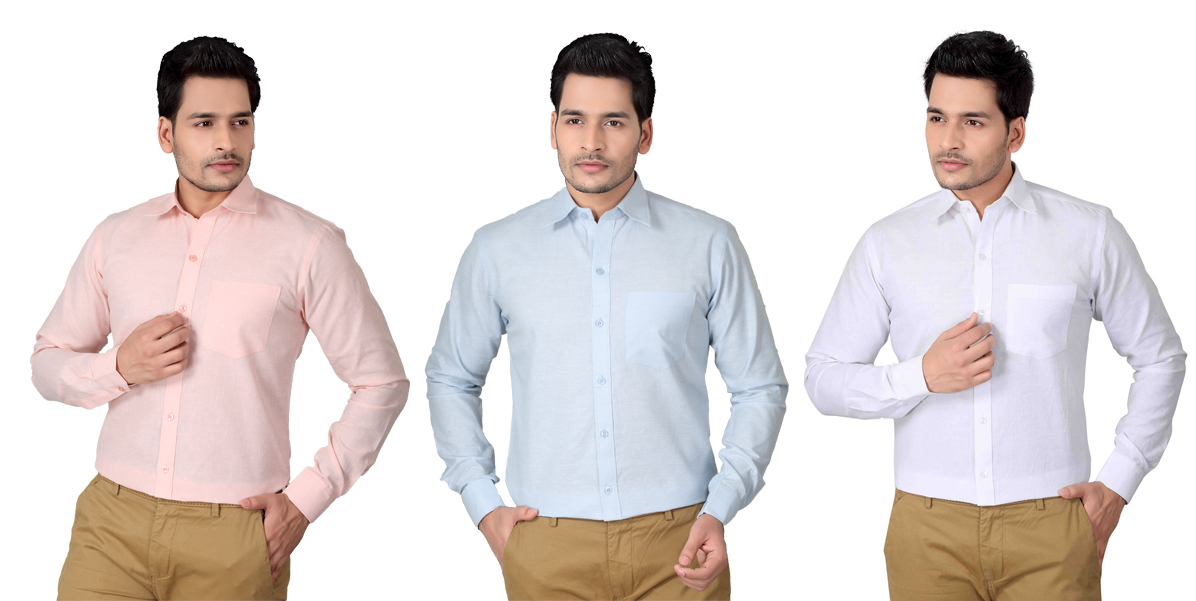Daily cracker deal brinley linen shirts set of 3 for men for Linen shirts for mens in chennai