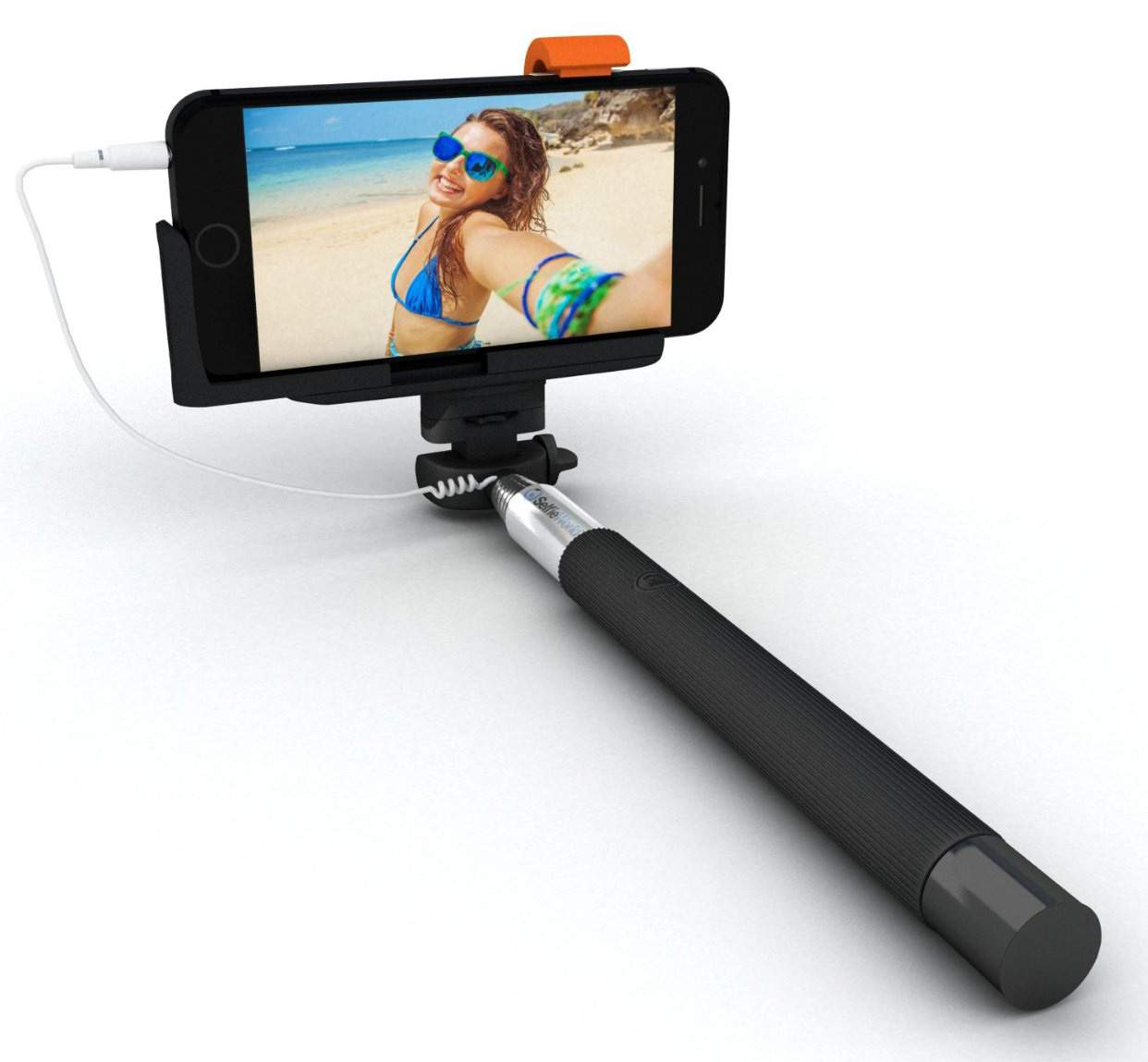selfie stick with aux cable just rs 99 moskart dealshut. Black Bedroom Furniture Sets. Home Design Ideas