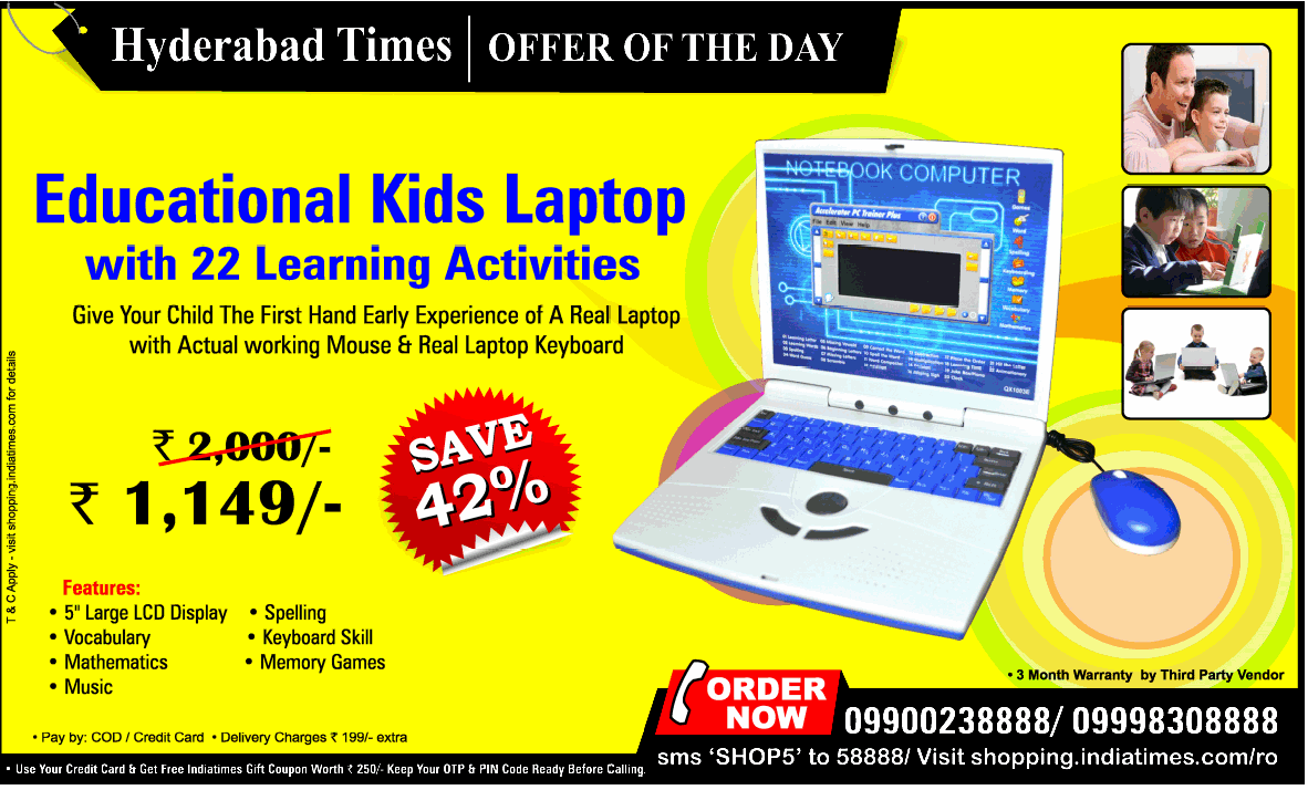 Get an Educational Kids Laptop with 22 Learning Activities ...